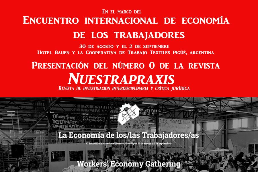 Presentación de la revista Nuestrapraxis en Encuentro