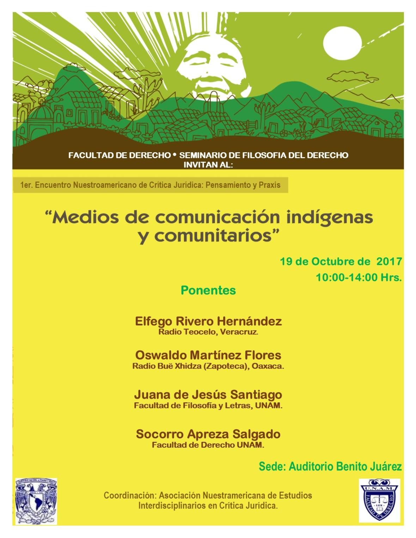 1er Encuentro Nuestroamericano de Crítica Juridica 2017