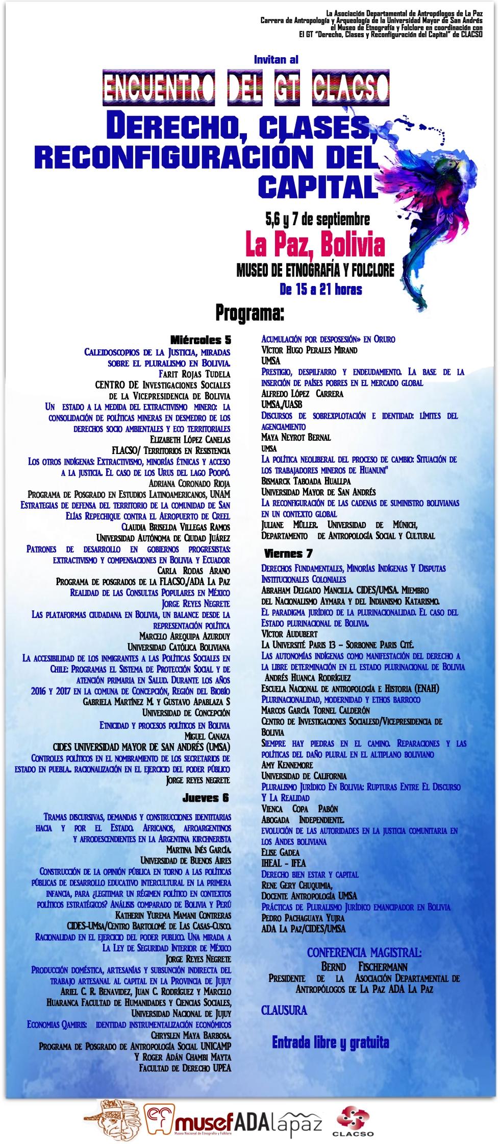 23. AGOSTO. cartelbolivia. DERECHO, CLASES, RECONFIGURACIÓN DEL CAPITAL. psd