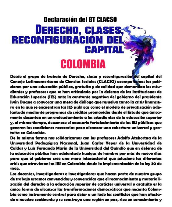 CARTA COLOMBIA. 28