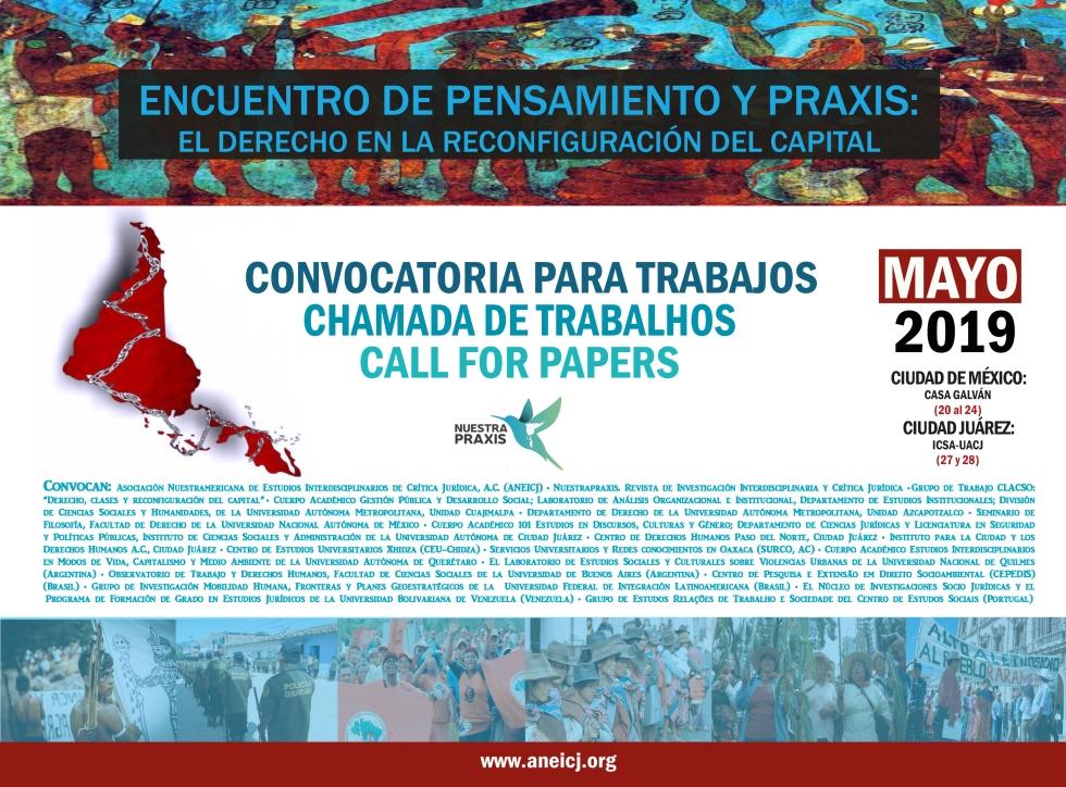 cartel. encuentro de pensamiento y praxis el derecho en la reconfiguración del capital. 2019