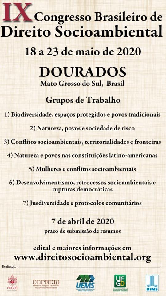 Direito socioambiental. 2020. Brasil
